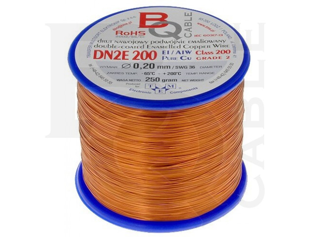 DN2E0.20/0.25 BQ CABLE, Coil wire