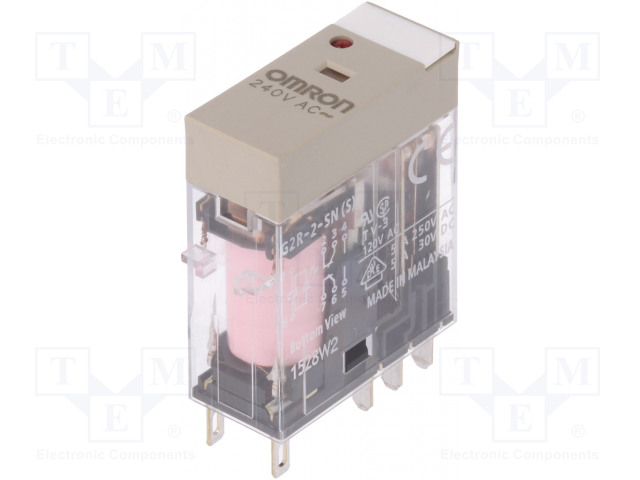 OMRON G2R-2-SN 240VAC (S) - Relé: elektromagnetické