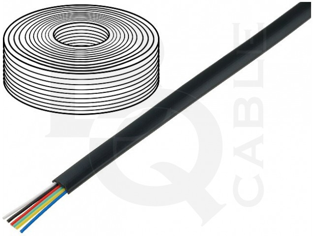 TEL-0034-100/BK BQ CABLE, Wire