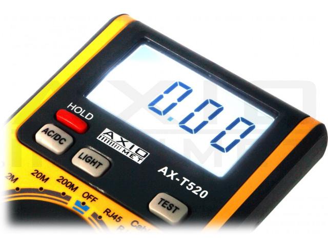 AX-T520 AXIOMET, Multimetro digitale