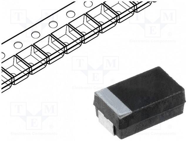 VISHAY 293D106X0050E2TE3 - Kondenzátor: tantalový