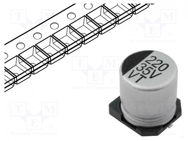 SR PASSIVES CE220/35-SMDHT - Kondensaattori: elektrolyyttikondensaattori