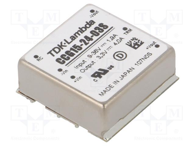 TDK-LAMBDA CCG15-24-03S - Converter: DC/DC