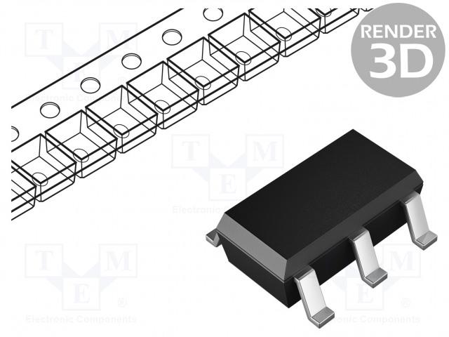 TEXAS INSTRUMENTS SN74LVC1G126DBVR - IC: digital