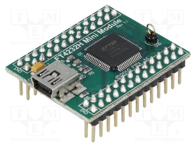 FTDI FT4232H MINI MODULE - Moduuli: USB