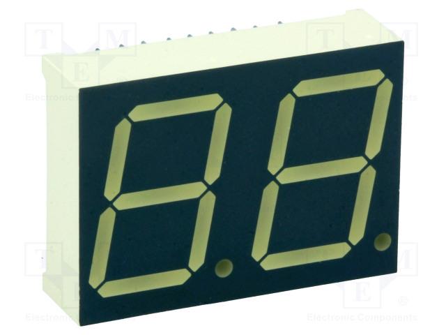 KINGBRIGHT ELECTRONIC DA08-11SRWA - Zobrazovač: LED