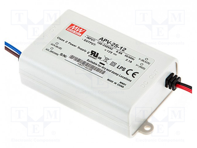 MEAN WELL APV-25-12 - Power supply: switched-mode
