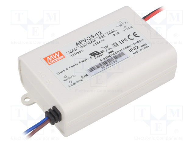 MEAN WELL APV-35-12 - Power supply: switched-mode