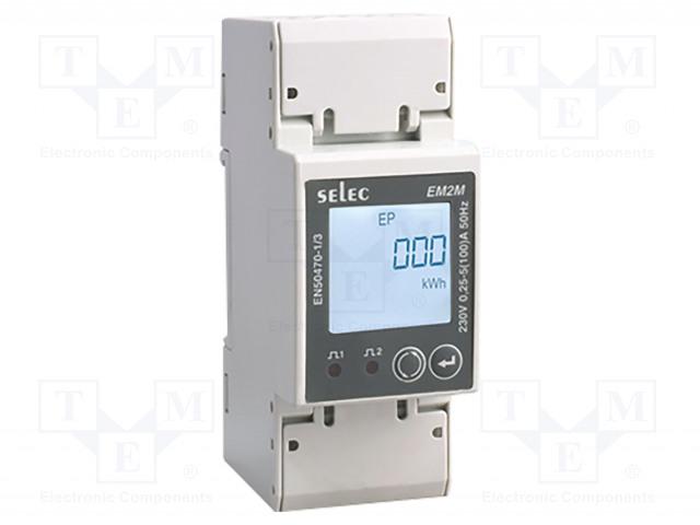 SELEC GMBH EM2M-1P-C-100A-CE - Contador da energia elétrica