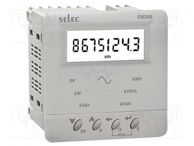 SELEC GMBH EM368-C-CU - Contador da energia elétrica