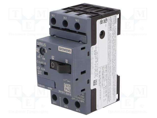 SIEMENS 3RV1011-0GA10 - Motorový jistič