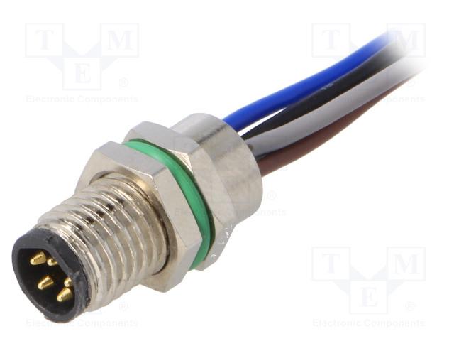 BULGIN PXMBNI08RPM05BFL001 - Connettore: M8