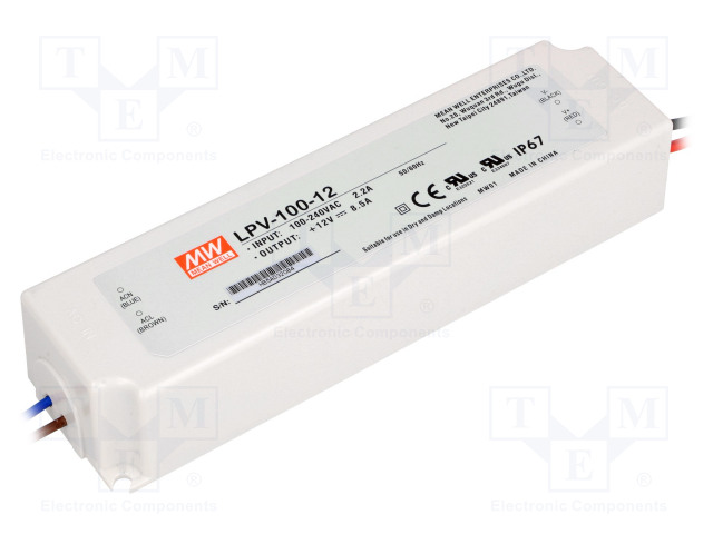 MEAN WELL LPV-100-12 - Power supply: switched-mode