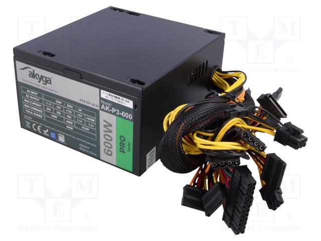 AKYGA AK-P3-600 - Power supply: computer