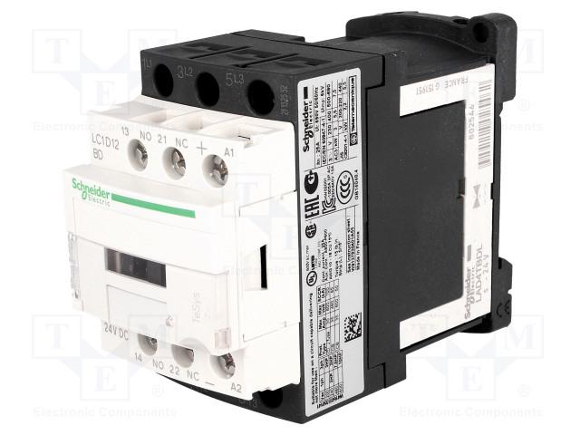 SCHNEIDER ELECTRIC LC1D12BD - Kontaktori: 3-napainen