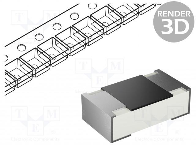 YAGEO RC0805FR-075K1L - Résistance: thick film