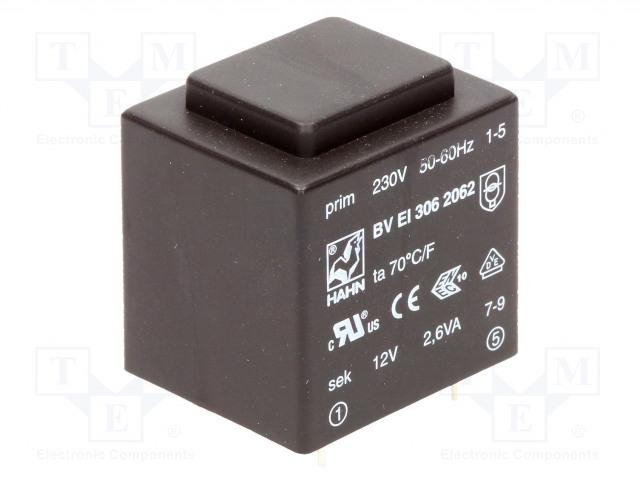 HAHN BV EI 306 2062 - Transformer: encapsulated