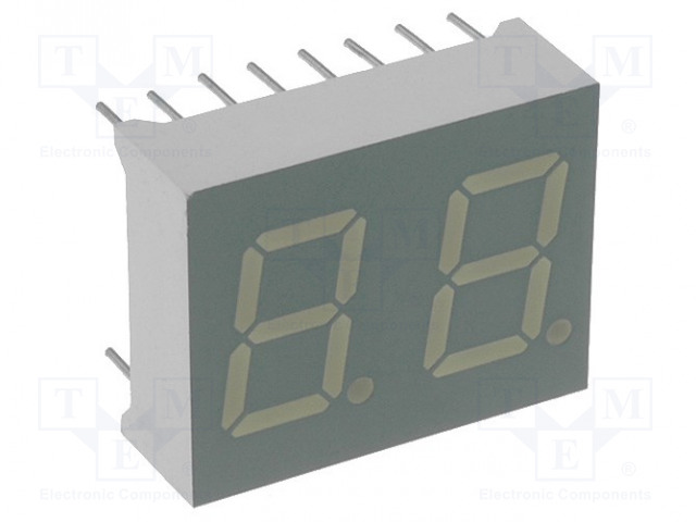 KINGBRIGHT ELECTRONIC DA04-11SRWA - Zobrazovač: LED