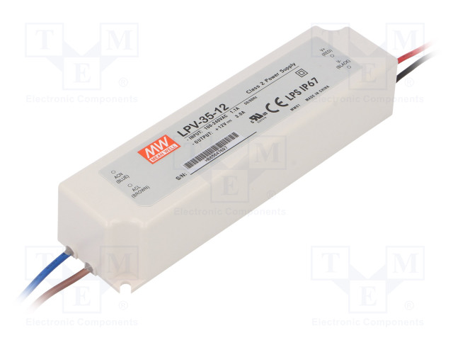 MEAN WELL LPV-35-12 - Power supply: switched-mode