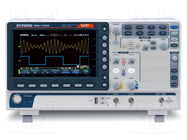 GW INSTEK GDS-1102B (CE) 2CH - Oscyloskop: cyfrowy