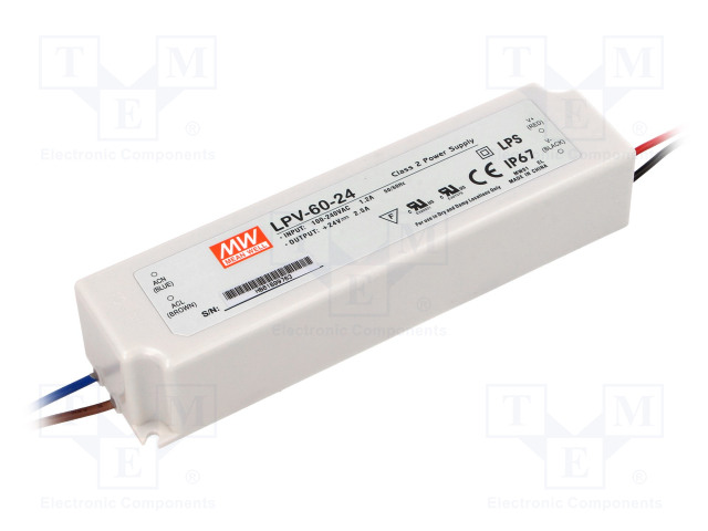 MEAN WELL LPV-60-24 - Power supply: switched-mode