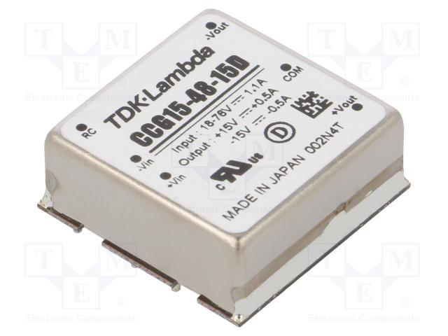 TDK-LAMBDA CCG15-48-15D - Converter: DC/DC