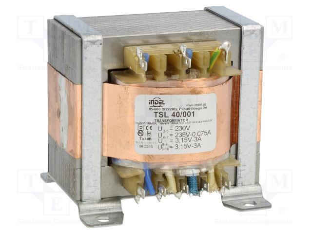 INDEL TSL 40/001 - Transformator: sieciowy