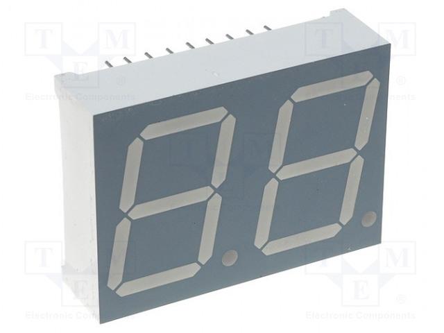 KINGBRIGHT ELECTRONIC DA08-11EWA - Zobrazovač: LED