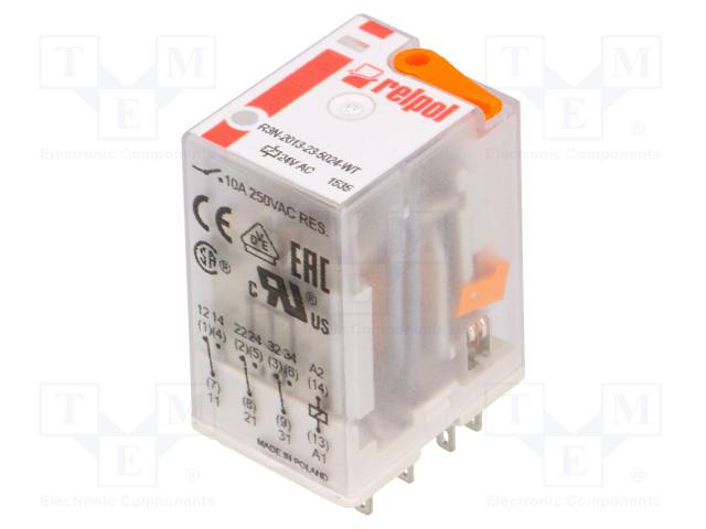 RELPOL R3N-2013-23-5024-WT - Relè: elettromagnetico