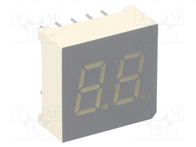 KINGBRIGHT ELECTRONIC DA03-11SRWA - Zobrazovač: LED