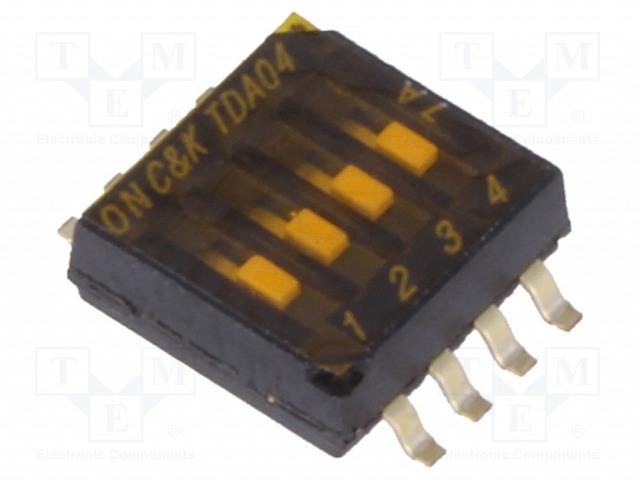 C&K TDA04H0SB1 - Switch: DIP-SWITCH