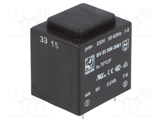 HAHN BV EI 306 2061 - Transformer: encapsulated