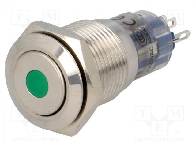 ONPOW LAS2-GQF-11D/G12V/S-P - Switch: vandal resistant