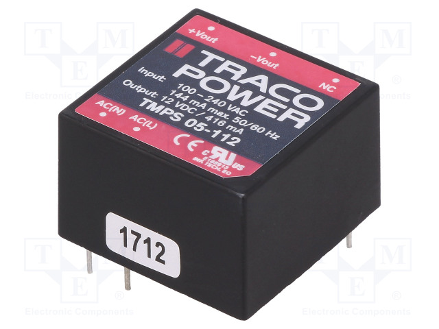 TRACO POWER TMPS 05-112 - Adaptor: AC/DC