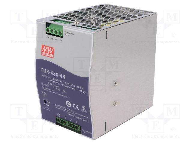 MEAN WELL TDR-480-48 - Power supply: switched-mode