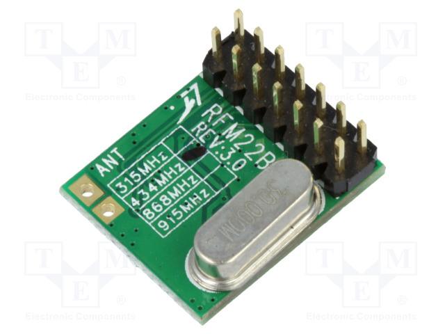HOPE MICROELECTRONICS RFM22B-433D - Moduł: RF