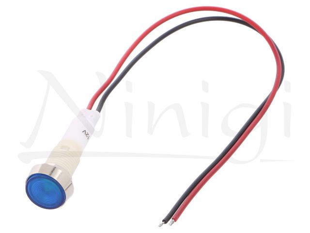 IND10P-12B-W, LED kontrolky