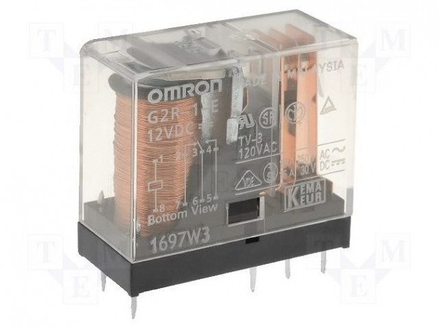 24VDC; 16A//250VAC G2R-1-E Relais elektromagnetisch; SPDT; USpule