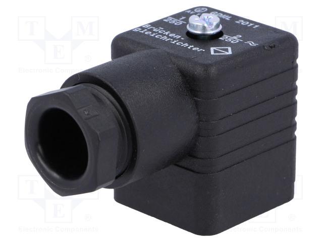 HIRSCHMANN 932329100 GDML 2011 GB1 SCHWARZ - Konektor: pro ventily