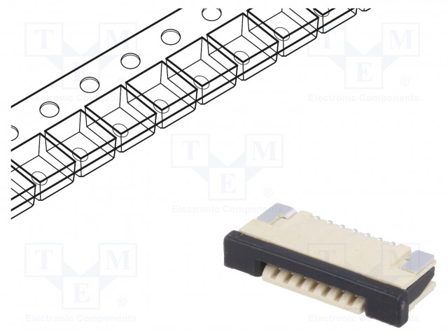 JOINT TECH F1003WR-S-07PB - Connector: FFC (FPC)