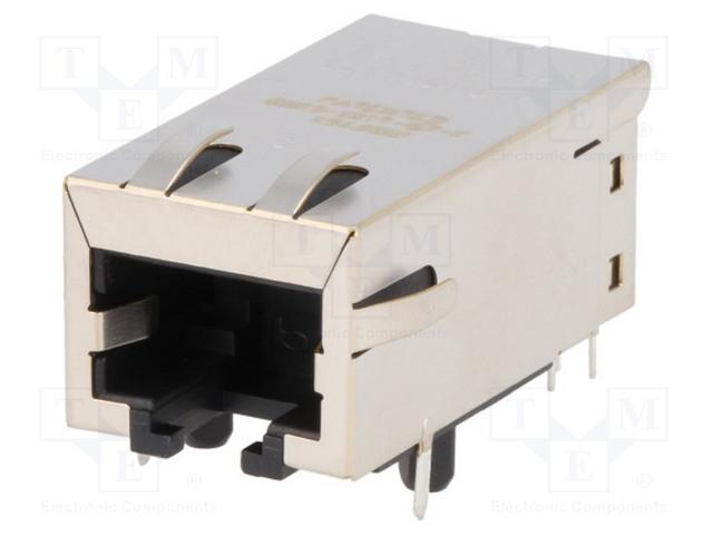 Экранированные Модульные разъемы - Jacks с защитой Гнездо; RJ45; PIN: 8; экранированный; Конф: 8p8c; THT; угловой Фото 1.