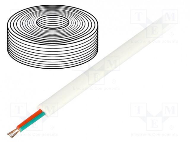 BQ CABLE TEL-0030-100/WH - Przewód: telefoniczny