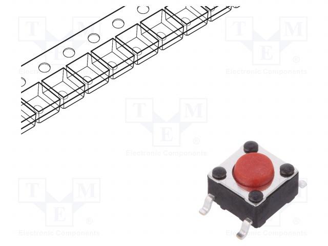 C&K PTS645SK43SMTR92 LFS - Mikrospínač TACT