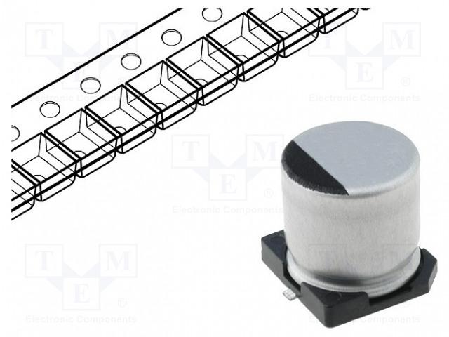 SAMWHA SC1V106M05005VR - Kondensator: elektrolytisch