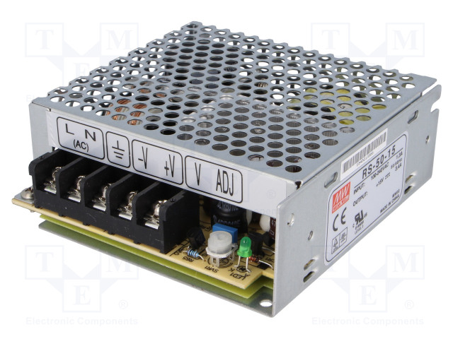 MEAN WELL RS-50-15 - Power supply: switched-mode
