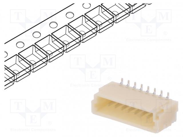 JST BM08B-SRSS-TB - Socket