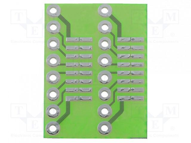 MS-DIP/SO10 - Plošný spoj: univerzální
