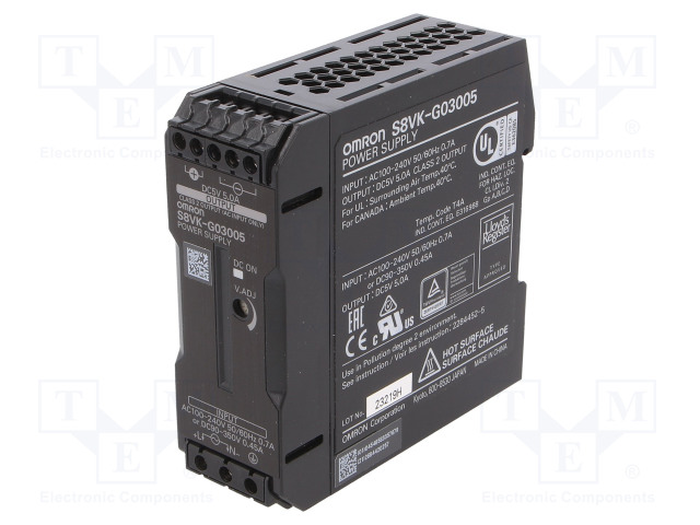 OMRON S8VK-G03005 - Power supply: switched-mode