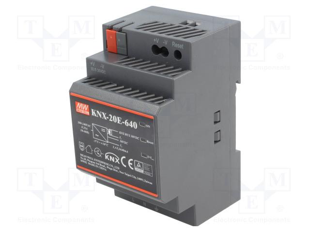 MEAN WELL KNX-20E-640 - Napájecí zdroj: KNX / EIB