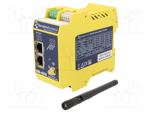 BRAINBOXES BB-400 - Módulo industrial: controlador Ethernet